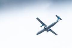 Chiang Mai Thailand - Maj 28: ATR72-500 av Kan Airlines landning Arkivfoton