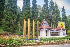 Chiang Mai Thailand - Maj 3, 2017: Bhubing slottingång, Royaltyfri Fotografi