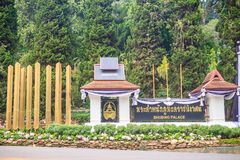 Chiang Mai Thailand - Maj 3, 2017: Bhubing slottingång, Royaltyfria Bilder