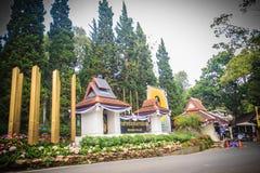 Chiang Mai Thailand - Maj 3, 2017: Bhubing slottingång, Royaltyfria Foton