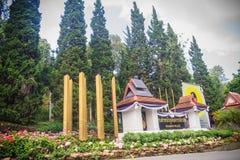 Chiang Mai Thailand - Maj 3, 2017: Bhubing slottingång, Royaltyfri Bild