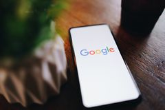 CHIANG MAI, THAILAND - Mar. 24,2019: Xiaomi Mi Mix 3 mobile phone with google search on screen. Google is the biggest Internet. Search engine and online royalty free stock photos