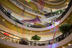 Inside Central Festival Chiang mai. CHIANG MAI, THAILAND -MARCH 21 2018: Central Festival Chiang mai. New Business Plaza of Chiangmai. About 3 Km. from Stock Photos