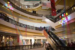 Inside Central Festival Chiang mai. CHIANG MAI, THAILAND -MARCH 21 2018: Central Festival Chiang mai. New Business Plaza of Chiangmai. About 3 Km. from Stock Photo