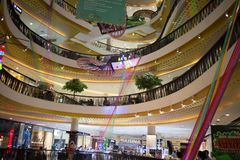 Inside Central Festival Chiang mai. CHIANG MAI, THAILAND -MARCH 21 2018: Central Festival Chiang mai. New Business Plaza of Chiangmai. About 3 Km. from Stock Image