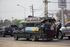Green Pickup truck taxi Chiangmai Royalty Free Stock Photo
