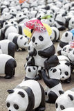 CHIANG MAI,THAILAND March 19, 2016 : Pandas World Tour by WWF ex. Hibition of the 1,600 paper mache pandas during a flash mob  world tour made by French artist Stock Photos