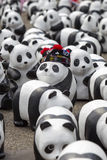 CHIANG MAI,THAILAND March 19, 2016 : Pandas World Tour by WWF ex Royalty Free Stock Image