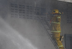 CHIANG MAI, THAILAND MAY 17: Fire in Warehouses - catch fire in Stock Photo