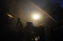 CHIANG MAI, THAILAND MAY 17: Fire in Warehouses - catch fire in Stock Photos