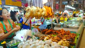Smoked chicken in Tanin Market, Chiang Mai, Thailand