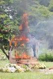 CHIANG MAI, THAILAND - MAY 19: Thai traditional cremating retual stock photo