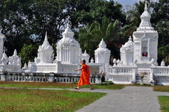 Chiang Mai, Thailand: Monk & Reliquary Tombs Stock Images