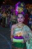 Chiang Mai Yee Peng festival. CHIANG MAI , THAILAND - NOV 04 : Participant in a parade during Yee Peng festival in Chiang Mai , Thailand on November 04 2017 Stock Photo
