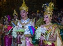 Chiang Mai Yee Peng festival. CHIANG MAI , THAILAND - NOV 04 : Participants in a parade during Yee Peng festival in Chiang Mai , Thailand on November 04 2017 Royalty Free Stock Image