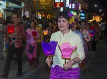 Chiang Mai Yee Peng festival. CHIANG MAI , THAILAND - NOV 04 : Participants in a parade during Yee Peng festival in Chiang Mai , Thailand on November 04 2017 Stock Photography