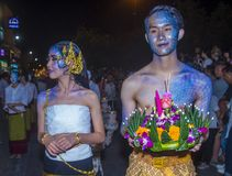 Chiang Mai Yee Peng festival. CHIANG MAI , THAILAND - NOV 04 : Participants in a parade during Yee Peng festival in Chiang Mai , Thailand on November 04 2017 Stock Images