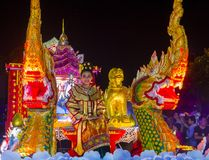 Chiang Mai Yee Peng festival. CHIANG MAI , THAILAND - NOV 04 : Participants in a parade during Yee Peng festival in Chiang Mai , Thailand on November 04 2017 Stock Image