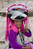 CHIANG MAI, THAILAND - NOV 15TH: Unidentified girl from the Lisu Royalty Free Stock Images