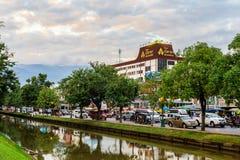 Chiang Mai Thailand - November 28, 2016: Chang Phuak Gate Fotografering för Bildbyråer