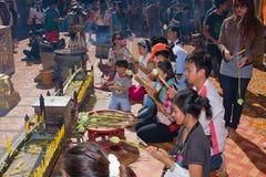 Loy Krathong festival i Chiang Mai Arkivfoton