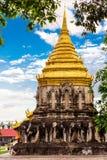 Chiang Mai, Thailand - November 28, 2016: Gouden Chedi Stock Afbeeldingen