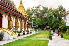 Chiang Mai, Thailand - November 28, 2016: Gouden Chedi Royalty-vrije Stock Afbeelding