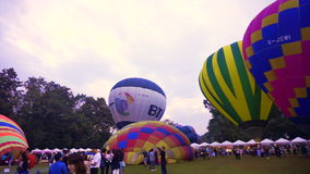 Chiang Mai, Thailand - November 2014- Hot Air Balloon, International Balloon Festival stock video footage