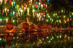 CHIANG MAI THAILAND - NOVEMBER 06, 2014: Loy Arkivbild