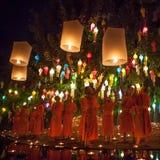 CHIANG MAI THAILAND - NOVEMBER 06, 2014: Loy Royaltyfri Fotografi