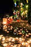 CHIANG MAI THAILAND-NOVEMBER 17 : Loy Krathong festival at Wat Pan Tao Royalty Free Stock Photography