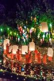 CHIANG MAI THAILAND-NOVEMBER 17 : Loy Krathong festival at Wat Pan Tao Royalty Free Stock Images