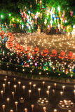 CHIANG MAI THAILAND-NOVEMBER 17 : Loy Krathong festival at Wat Pan Tao Royalty Free Stock Photos