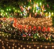 CHIANG MAI THAILAND-NOVEMBER 17 : Loy Krathong festival at Wat Pan Tao Stock Image