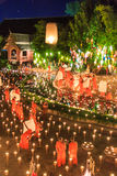 CHIANG MAI THAILAND-NOVEMBER 17 : Loy Krathong festival at Wat Pan Tao Royalty Free Stock Photos
