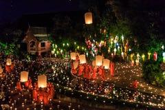 CHIANG MAI THAILAND-NOVEMBER 17 : Loy Krathong festival at Wat Pan Tao Royalty Free Stock Image