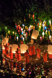 CHIANG MAI THAILAND-NOVEMBER 17 : Loy Krathong festival at Wat Pan Tao Stock Photo