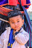CHIANG MAI, THAILAND - 2015 November 05: Portrait of unidentify Palaung ragged boy, Palaung tribes live in northern of Thailand Royalty Free Stock Photography