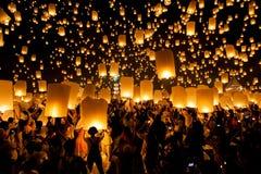 Chiang Mai, Thailand - 25 Oct, 2014: De mensen zijn Stock Foto