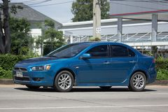 Private car, Mitsubishi Lancer Stock Photos