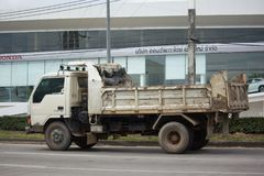 Private Mitsubishi Canter Dump Truck Royalty Free Stock Image