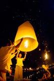 CHIANG MAI, THAILAND - OKTOBER 20, 2010: Groep Thais mensenla Stock Fotografie