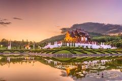 Chiang Mai, Thailand-Park und Pavillon stockfotografie