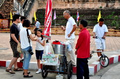 Chiang Mai, Thailand: People Buying Ice Cream Royalty Free Stock Photography