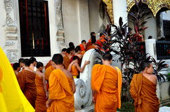 Chiang Mai, Thailand: A Procession of Monks Stock Image