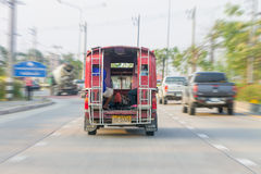 CHIANG MAI THAILAND, Rode autotaxi Royalty-vrije Stock Afbeelding