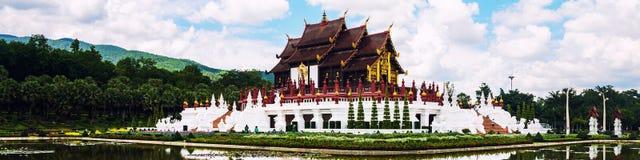 Chiang Mai, Thailand. Royal Palace garden and temple Royalty Free Stock Photos
