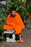 Chiang Mai, Thailand: Seat Monk at Wat Bupparam Stock Photos