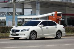 Private car Honda accord. CHIANG MAI, THAILAND -SEPTEMBER 14 2017: Private car Honda accord. On road no.1001 8 km from Chiangmai Business Area Royalty Free Stock Photography