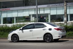 Private car, Toyota Corolla Altis. Eleventh generation Black Top Stock Photos